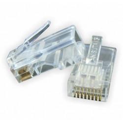 Conector de red nisuta ns-corj45 rj 45 categoria 5e