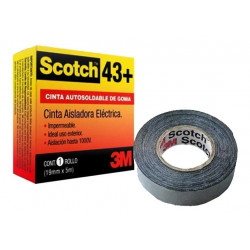 Cinta de goma autosoldable 3m scotch 43 baja tension 19...