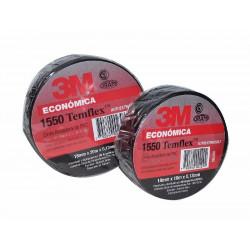 3m cinta aisl.pvc temflex 1550 18mm x20m negra uso general