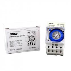 Interruptor horario sica con reserva 16a / riel din