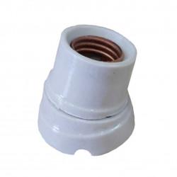 Receptaculo ceramico de porcelana ed curvo