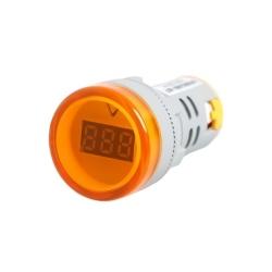 Mini tbcin ad22ds voltimetro digital 22mm 80-500vca amarillo