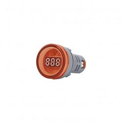 Mini tbcin ad22ds voltimetro digital 22mm 80-500vca rojo