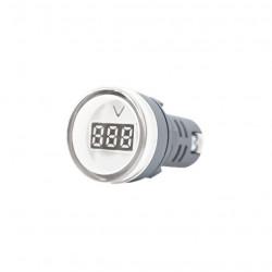 Mini tbcin ad22ds voltimetro digital 22mm 80-500vca blanco
