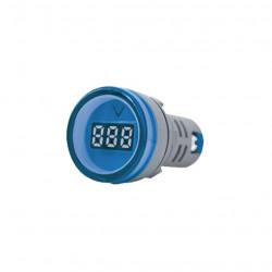 Mini tbcin ad22ds voltimetro digital 22mm 80-500vca azul