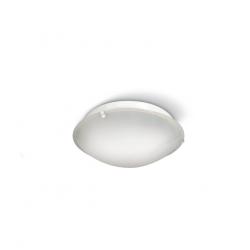 Plafon san justo policarbonato redondo para dos lamparas...