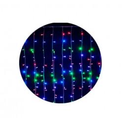 Luces navideñas lluvia multicolor 2m