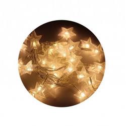Luces navideñas estrellas labrada blanco calido 4m