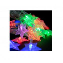 Luces navideñas estrellas labrada multicolor 4m