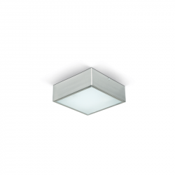 Plafon san justo extrachato acero 10x10cms 1 luz de 60w