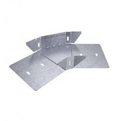 Curva plana basica 45° perforada 300mm con clips y flags