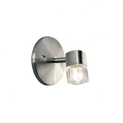 Aplique dabor taco 1 luz g9 60w tulipa cristal platil
