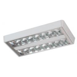 Plafon lumenac slim c236 dpx chato doble parabólico...