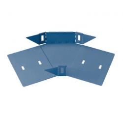 Curva plana basica 45° perforada 600mm con clips y flags