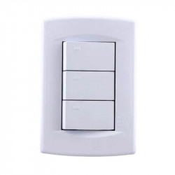 Módulo interruptor sica dumeco triple blanco