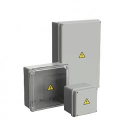 Caja paso genrod pvc ip65 ext.gris 165x165x110 transparente