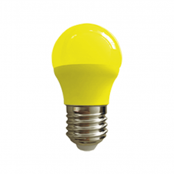 Lámpara led tbcin g45-e27-3w y de 3w luz amarilla