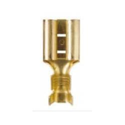 Terminal bronce ancho pala 6.3mm hembra (mediana) n436