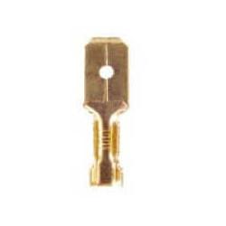 Terminal bronce ancho pala 6.3mm macho (mediana) n790