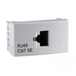 Módulo toma red schneider wda54401 roda rj45 cat 5 blanco