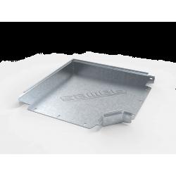 Curva plana basica 45° perforada 450mm con clips y flags