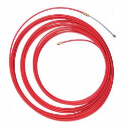 Cinta pasacable plastica de 15 metros diametro 4 mm rojo