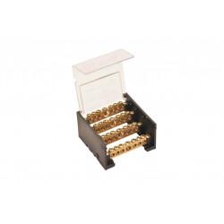 Repartidor elent 4x 125a de 7 bornes standard con tapa...