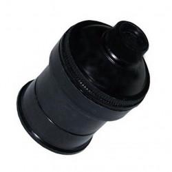 Portalampara común de 3 piezas negro