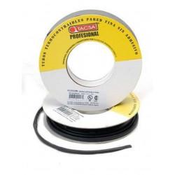 Tacsa tubo termocontraible  6.4 a 3,2mm  1/4 negro