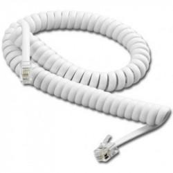 Cable retractil 4 contactos con 2 fichas hasta 2 metros...