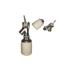 Gancho de aluminio para intemperie rosca 5/8 con aislante...