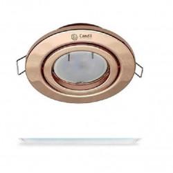 Werner spot embutir candil gu10 cobre d100mm