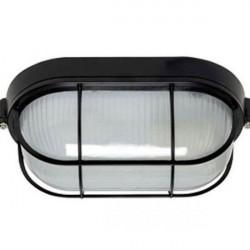 Tortuga de aluminio ovalada 150w color negro