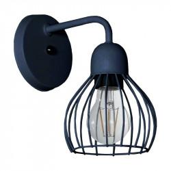Aplique ferrolux porto jaula 1 luz e27 negro texturado