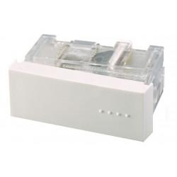 Módulo interruptor cambre bauhaus tecla simple blanca...