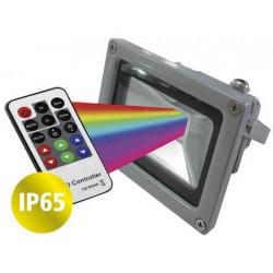 Proyector tbcin led rgb 10w con control (10mts) ip65