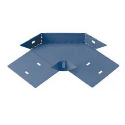 Curva plana basica 90° perforada 100mm con clips y flags