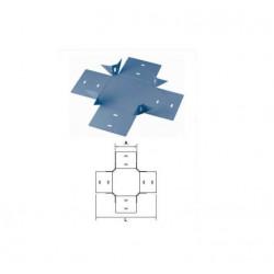 Union cruz basica perforada de 50 mm con clips y flags