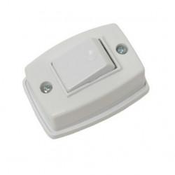 Llave exterior mig con interruptor de 1 punto marfil