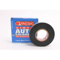 Cinta aisladora autosoldable tacsa 19 mm x 4.57 m x 0.76 mm
