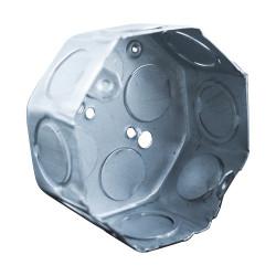 Caja octogonal metalica liviana zincada chica diametro 80...