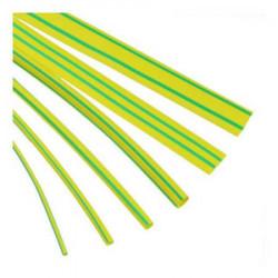 Tubo tacsa termocontraible 4.8 a 2.4mm 3/16 verde/amarillo