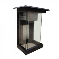 Farol de vidrio transparente pol-luz fm11 23w negro