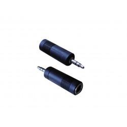 Adaptador stereo nisuta ns-adst36 de 6.3mm a 3.5mm