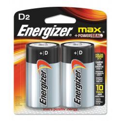 Energizer  pila max grande d 1,5v 2 unid.blister e95bp2