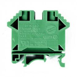Borne de paso zoloda poliamida bpn-10 10mm verde montaje...