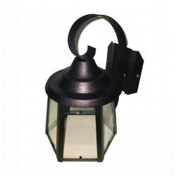 Farol pol-luz f05 e27 para pared de chapa negro
