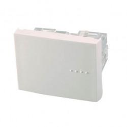 Modulo interruptor cambre bauhaus de 4 vias tecla doble...