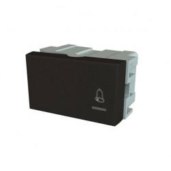 Modulo pulsador jeluz platinum de 10a color negro