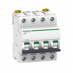 Interruptor schneider a9f73450 ic60n curva b 4x50a 6ka